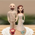 Bride And Groom Beach Themed Wedding Cake Toppers