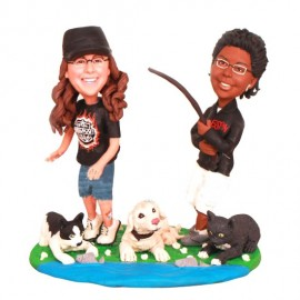 Lesbian Wedding Cake Toppers With Dogs