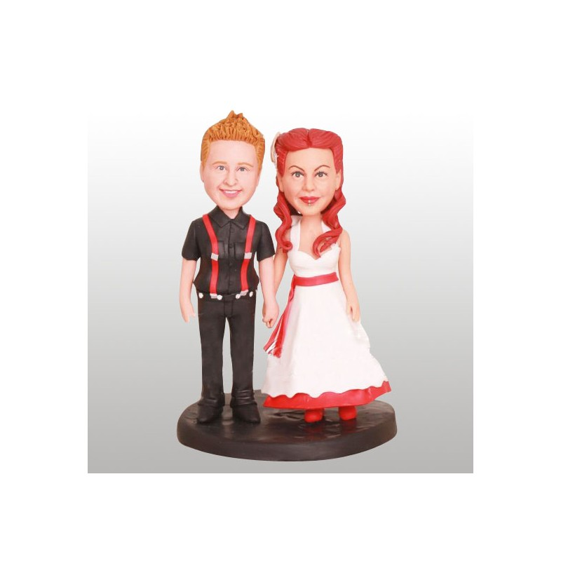 Lesbian Couple Holding Hands Wedding Cake Toppers