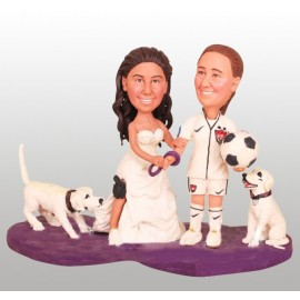 Lesbian Sporting Wedding Cake Toppers