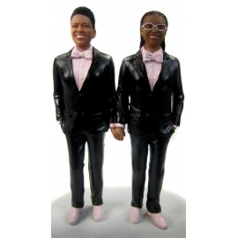 Lesbian In Tuxedos Wedding Cake Toppers