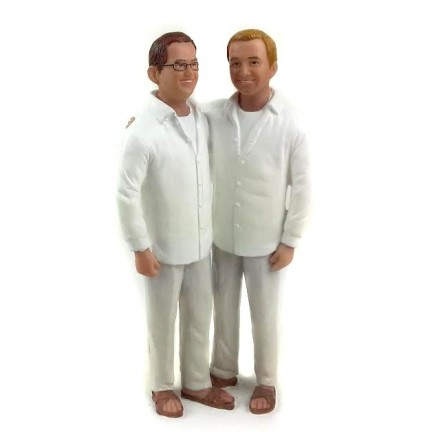 Gay Beach Wedding Cake Toppers