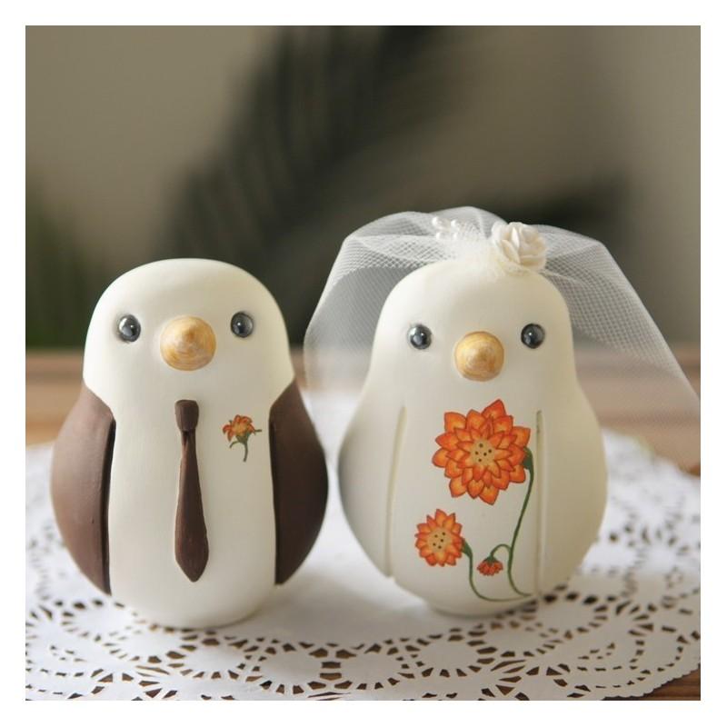 Bird Wedding Cake Toppers | Custom Bride And Groom Love Bird Wedding Cake Toppers