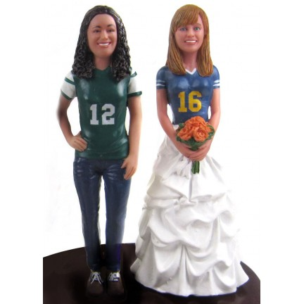 Same Sex Sports Wedding Cake Toppers