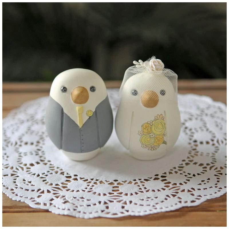 815 Personalised Love Bird Wedding Cake Toppers