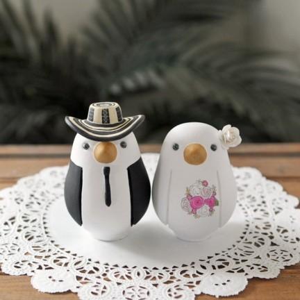 Personalised Western Cowboy Love Bird Wedding Cake Toppers