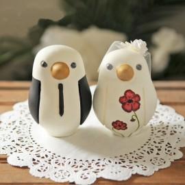 Custom Love Bird Wedding Cake Toppers