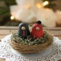 Custom Love Bird Ethnic Wedding Cake Toppers