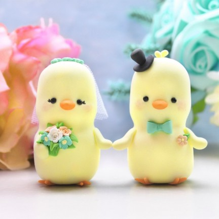 Unique Bride And Groom Love Bird Wedding Cake Toppers
