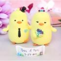 Custom Bride And Groom Love Bird Wedding Cake Toppers