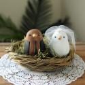 Custom Ethnic Love Bird Wedding Cake Toppers
