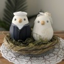 Personalised Navy Military Love Bird Wedding Cake Toppers