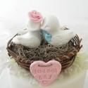 Custom Country Love Bird Wedding Cake Toppers
