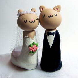 Unique Cat Wedding Cake Toppers