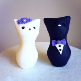 Custom Cat Wedding Cake Toppers