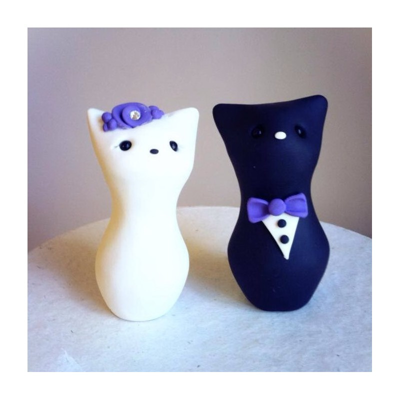Custom cat wedding cake toppers junglespirit Images