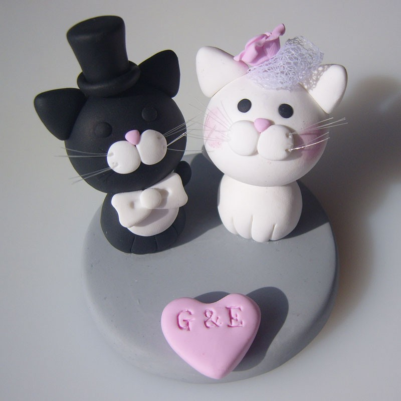 Funny cat wedding cake toppers junglespirit Images