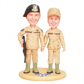 Air Force Military Camo Wedding Cake Toppers