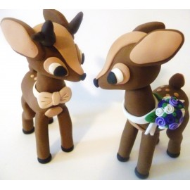 Custom Deer Wedding Cake Toppers