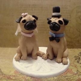 Custom Dog Wedding Cake Toppers