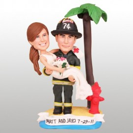 Fireman Wedding Cake Toppers