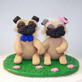 Personalized Dog Wedding Cake Toppers