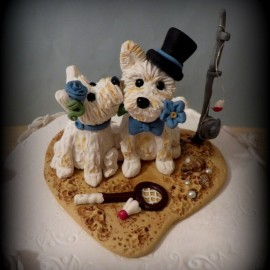 Personalized Dog Sports Wedding Cake Toppers