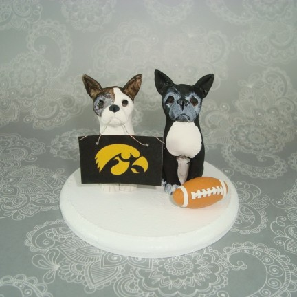 Personalized Dog Same Sex Gay Football Wedding Cake Toppers