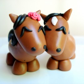 Personalized Horse Wedding Cake Toppers