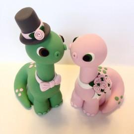 Custom Dinosaur Wedding Cake Topper