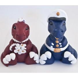 Custom Marine Crops Dinosaur Wedding Cake Toppers