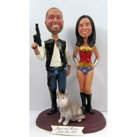 Hunting Wedding Cake Toppers With A Cat