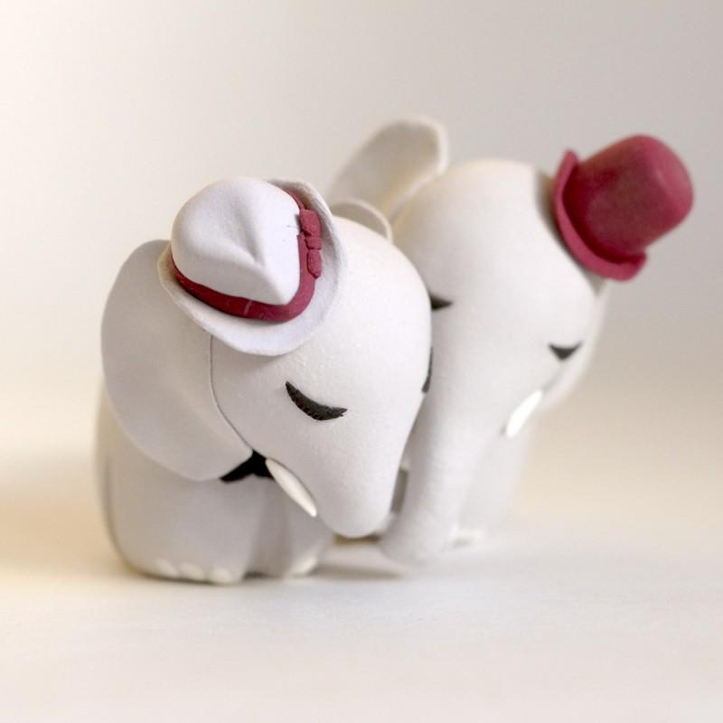Custom Elephant An Same Wedding Cake Toppers