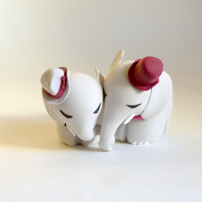 Custom Elephant Gay Sex Wedding Cake Toppers