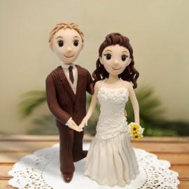 Custom Cartoon Wedding Cake Toppers