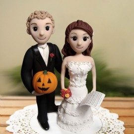 Custom Cartoon Musician Wedding Cake Toppers
