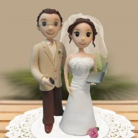 Custom Cartoon Wedding Cake Toppers