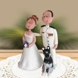 Custom Cartoon Military Wedding Cake Toppers