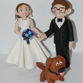 Custom Handmade Disney UP Ellie and Carl Wedding Cake Toppers
