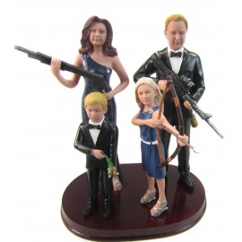 Hunting Family Wedding Cake Toppers