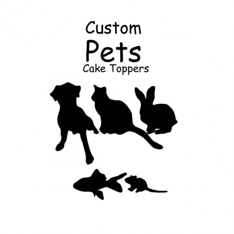 Custom Pet Cake Toppers