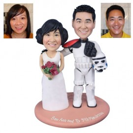 Star Wars Themed Wedding Cake Toppers