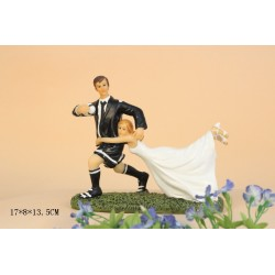 Quick Ship Funny Football Sports Wedding Cake Toppers