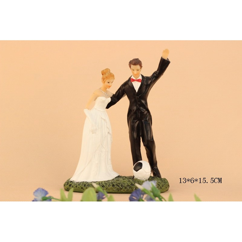 Quick Ship Funny Soccer Sports Wedding Cake Toppers
