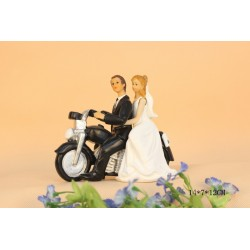 Quick Ship Bride And Groom Harley Davidson Wedding Cake Toppers