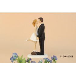 Quick Ship Casual Bride And Groom Wedding Cake Toppers