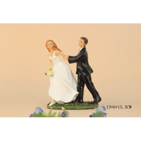 Quick Ship Funny Bride And Groom Wedding Cake Toppers
