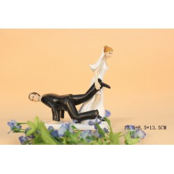Quick Ship Bride And Groom Wedding Cake Toppers Ball And Chain