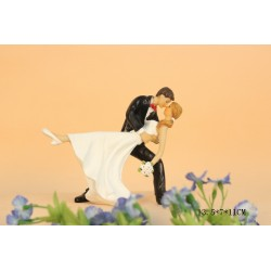 Quick Ship Groom Hold On Bride's Waist Wedding Cake Toppers