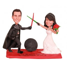 Funny Star War Wedding Cake Toppers
